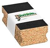 Sughero di levigatura con chiusura in velcro (adesione con sistema Velcro) 120X 40X 60mm | Blocco di levigatura/tampone manuale in sughero come supporto per carta abrasiva, carta vetrata, Sand carta decorazione di sughero