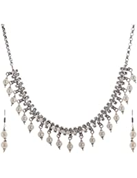 Kashish Designz Multi Strand Necklace for Women (White)(KDM002)