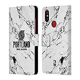 Head Case Designs Offizielle NBA Marmor Weiss 2018/19 Portland Trail Blazers Brieftasche Handyhülle aus Leder für Xiaomi Mi A2 / Mi 6X