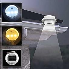 Rishil World Waterproof Solar LED Light Outdoor Garden Yard Gutter Pathway Lamp