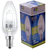 4 x Eco Halogen Candles 42w Equivalent 60w Halogen Candles Energy Saving Candle light bulbs E14 Small Edison SES