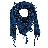 Superfreak® Palituch zweifarbig klassisch°PLO Schal°100x100 cm°Pali Palästinenser Arafat Tuch°100% Baumwolle, Farbe: blau-ultramarinblau/schwarz