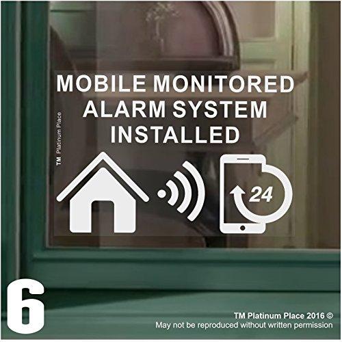 6-x-funda-para-sistema-de-alarma-monitoreado-instalado-stickers-130-mm-blanco-sobre-claro-interior-v
