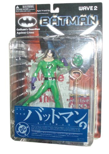 Yamato DC Batman Wave 2 Gotham's Guardian Against Crime Series 6 Inch Tall Action Figure - The Riddler with Hat, Riddler's Stick and Diorama Display Base by Yamato