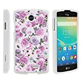 LG Tribute Phone Case, Slim Fit Snap On Cover with Unique, Customized Design for LG Tribute LS660, LG Transpyre VS810PP, LG Optimus F60 (Verizon, Virgin Mobile, MetroPCS) from MINITURTLE | Includes Clear Screen Protector and Stylus Pen - Pink Purple Flower