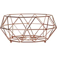 Premier Housewares Vertex Fruit Basket, 32 cm - Copper Plated