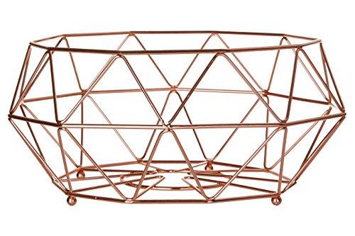 Premier Metall (Premier Housewares Vertex, verkupfert, Metall, Kupfer, 32 x 32 x 15 cm, Kupferbeschichteter Eisendraht, 32x32x15)