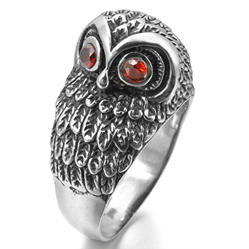 epinkifashion-jewelry-mens-stainless-steel-rings-cz-silver-black-red-owl-bird-punk-rock