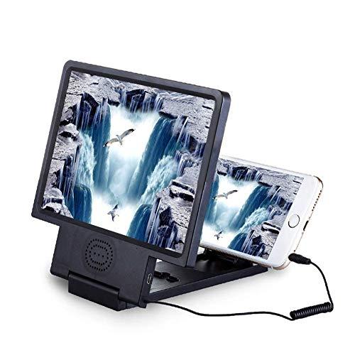 """XYEQZ 3D HD-Telefonlupe 8,5""""mit Lautsprecher Bildschirm Bildschirmständer Bildschirmlupe Smartphone Und iPhone (schwarz)"""