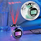 MostroMania - Sveglia Design con Proiettore - Effetti Luminosi Multicolore - Suoni della Natura - Orologio da Comodino - Decorazione Luminosa - Idea Regalo - Regali di Natale