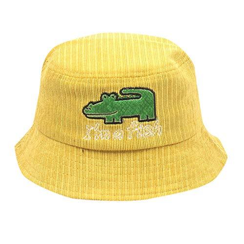 DQANIU  Kinder Hut, Nettes Kindermädchen & Jungen-Krokodil-Karikatur-Fischer-Hut-Sonnenschutz draußen Kappe