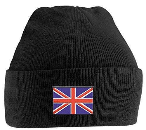 Strickmütze bestickt mit Englandfahne, England, UK, oder individuell gestaltbar