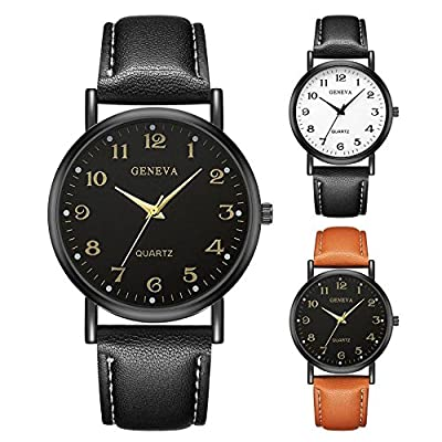 LuckUK? Clearance Men Watches,Boy Watches,Sport Watches,Digital Watches,Men's Stainless Steel Case Leather Watch Strap Analog Quartz Watch Sport Watch Wrist Watch : everything £5 (or less!)