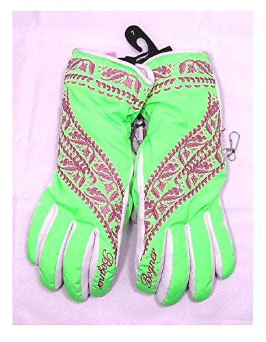 Damen Skihandschuhe Kanani 6 grün weiß rosa
