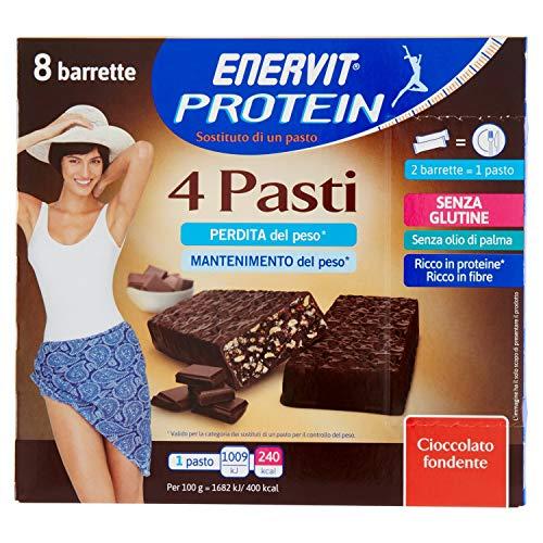 Enervit Protein 4 Pasti Sostitutivo Del Pasto Cioccolato Fondente
