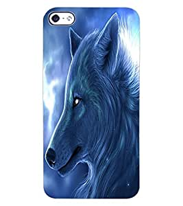 ColourCraft Wolf Look Design Back Case Cover for APPLE IPHONE 4