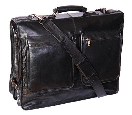 Véritable costume de cuir de luxe Garment Robe Carriers A112 Black Voyage Cabin Sac
