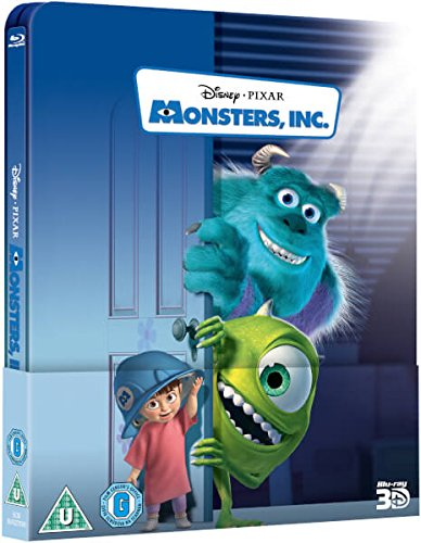 Monsters, Inc. 3D - UK Exclusive Limited Edition Steelbook (Includes 2D Version) Region Free