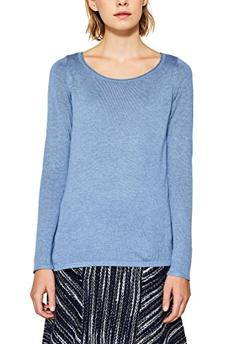 ESPRIT Damen Pullover 087EE1I026 Blau (Light Blue 5 444), Small
