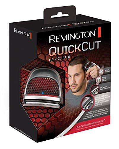 Remington HC4250 QuickCut – Cortapelos, tecnología de cuchilla Curvecut, nueve peines guía 1,5 – 15 mm, 40 minutos de autonomía