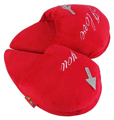 Footwear Studio , Damen Hausschuhe Rote Liebe Herz