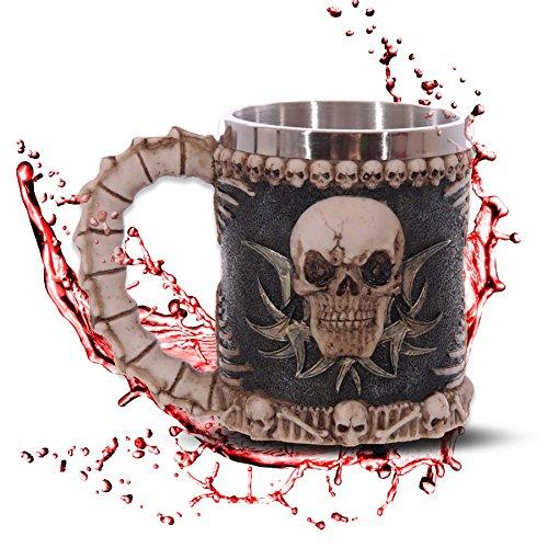"""Jarra """"Skull & Bones"""" - calavera cráneo - Decorazione Horror Medieval Fantástico"""