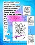 Telecharger Livres Pour la France en francais Beau livre a colorier Utiliser comme cartes de voeux Bouquets de fleurs florales Activite amusante pour Toutes les un message ici amour Par artiste Grace Divine (PDF,EPUB,MOBI) gratuits en Francaise