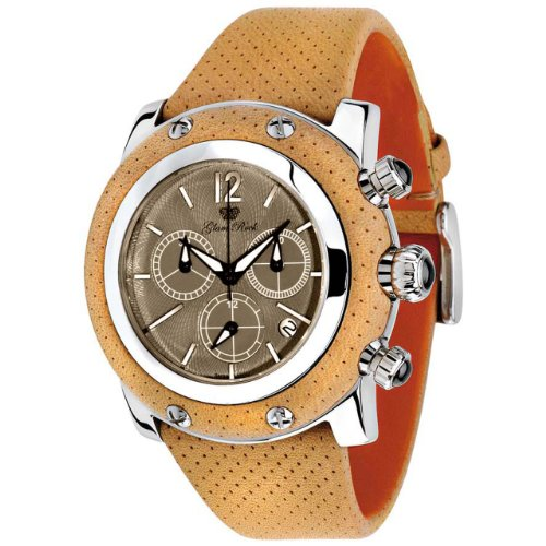 Glam Rock Women's GR10160 Miami Collection Chronograph Beige Leather Watch