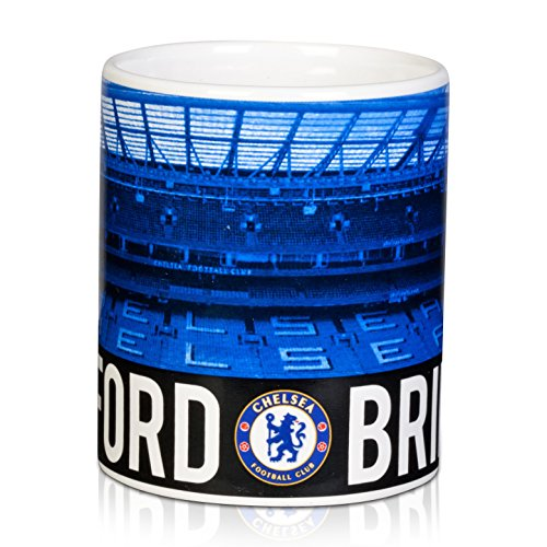 Original Chelsea London FC Mug Cup Tasse Kaffee Kaffeebecher Becher Tazza Stamford Bridge NEU Bridge-becher