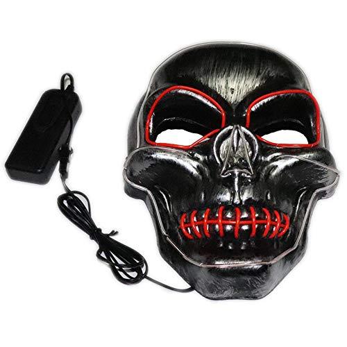 Candyboom Mode LED Leuchtmaske Maskerade Maske Horror Terror Kaltlichtmaske, Halloween Festival Party Kostüm Spielen Prop