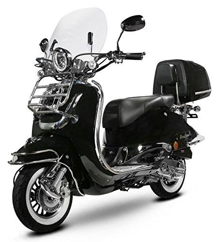 Retro Roller Easy Cruiser Chrom 125 ccm schwarz Motorroller Scooter Moped Mofa Easycruiser