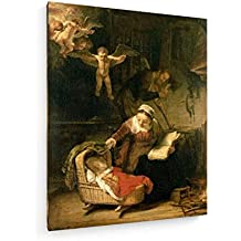 La familia santa / Rembrandt / 1645 - 60x75 cm - Impresiones sobre lienzo - weewado - Muro de arte - Antiguos Maestros
