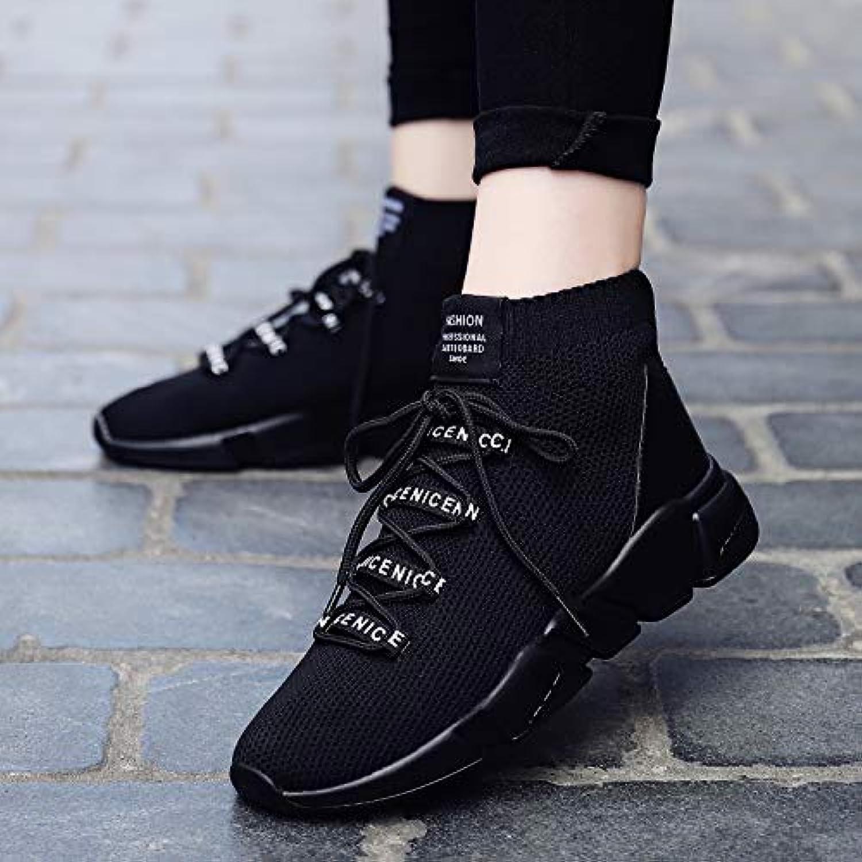 HCBYJ tissées Chaussures élastiques Automne Stretch Chaussures, Chaussettes Respirantes tissées HCBYJ Volantes, Chaussures de... a0b659