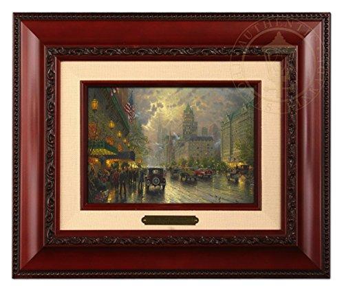 Thomas Kinkade New York, Fifth Avenue-brushwork, Brandy Frame, 12.5Lx10.5Hx1.25W