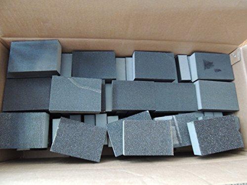 Schleifklötze, 30Stück, verschiedene Körnungen, nass und trocken, flexibler Schaumstoff, feine und mittlere Körnung