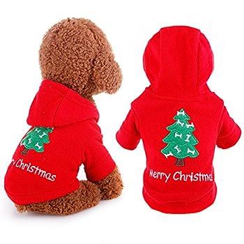 Père Noël Pet Costume pour chien Motif sapin de Noël