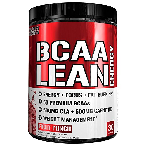 Evlution Nutrition BCAA Lean Energy - Energizing Amino Acid for Muscle Building Recovery and Endurance, With a fat burning formula, 30 Servings (Fruit Punch) (Energizing Fruit)