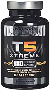 Iron Labs T5 Xtreme - 180 Capsules   Effective & Safe Formula - Supports Metabolism   FULL Money Back Guarantee - Exclusively made in the UK