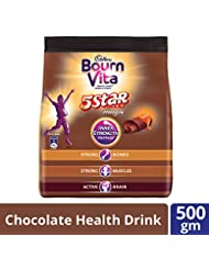 Cadbury Bournvita 5 Star Magic Chocolate Health Drink, 500g Pouch
