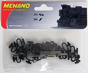 MEHANO TRAIN LINE - HO Scale Accessories, Rail Connectors & Clips set (20+20 pcs) by MEHANO