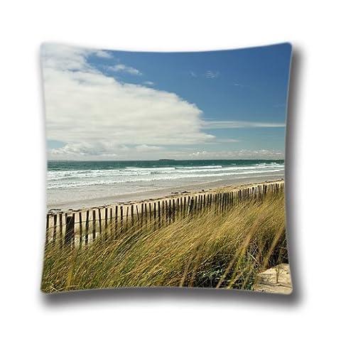 Zipper Design Beautiful Long Beach Throw Pillowcase, 16X16 inches Pillow Sham AnasaC27908