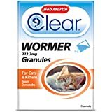 Bob Martin Easy to Use Dewormer Granules for Cats and Kittens, 3 Sachets