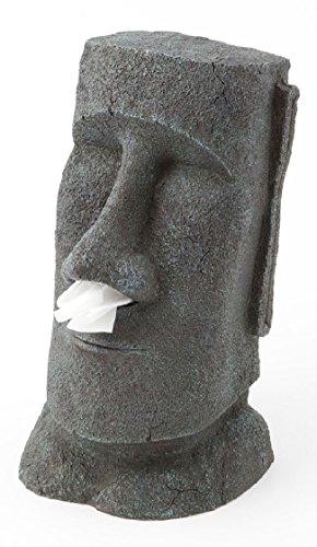 Distributeur de mouchoirs design - MOAI -Statue de l'île de Paques