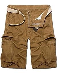 Fanvans hombres Ropa de playa Pantalones cortos De Secado Rapido De Frente Plano Corto Floral uxCUwCOw