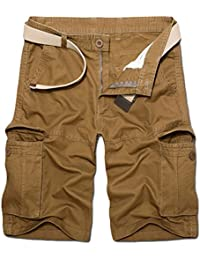Fanvans hombres Ropa de playa Pantalones cortos De Secado Rapido De Frente Plano Corto Floral