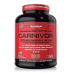 SPORTS NUTRITION SOURCE Musclemeds Carnivor Klinisch getestet 100% Rindfleisch Eiweiß Isolat Pulver, Premium Proteinpulver schokolade 56 portionen, 1814 g