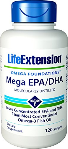 Life Extension Mega Epa Dha Softgels, 120 Count