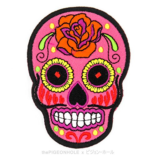 -live-to-ride-ride-to-live-rose-sugar-skull-sunny-buick-fuchsia-pink-red-die-cut-iron-on-sew-on-embr