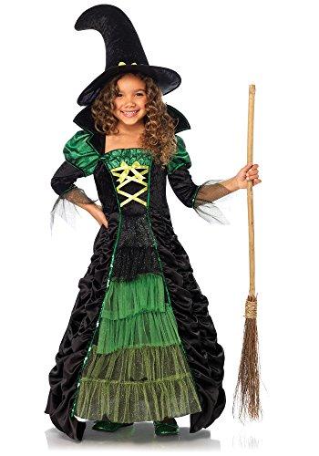 Hexen-Kostüm für Mädchen 140/152 (10-12 Jahre) (Zauberhafte Hexe Kind Kostüme)