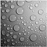 Wallario Möbeldesign - Glasbild, Motiv-Glasplatte, Schutzplatte, Abdeckplatte mit Motiv - geeignet für IKEA Lack Tisch, Größe: 55 x 55 cm, Motiv: Wassertropfen in schwarz weiß